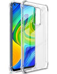 Чехол усиленный для Xiaomi Redmi Note 9 (прозрачный)