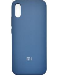 Чехол Silky Xiaomi Redmi 9a (темно-синий)