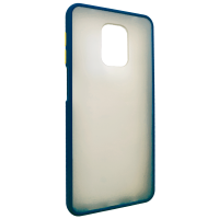 Чехол LikGus Maxshield матовый Xiaomi Redmi Note 9 Pro/Note 9s (темно-синий)