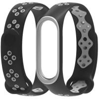 Ремешок для Xiaomi Band 3/4 Mijobs Sport (black-gray)