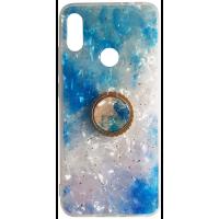 Чехол Ice Color Xiaomi Redmi Note 7 с держателем на палец (голубой)
