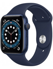 Apple Watch Series 6 40mm Blue Aluminium Case with Deep Navy Sport Band (MG143UL/A)