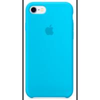Чехол Silicone Case iPhone 7/8 (голубой)