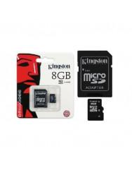 Карта памяти Kingston micro SD 8gb (10cl) + adapter