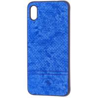 Чехол Velvet Xiaomi Redmi 7a (синий)