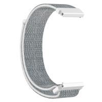 Ремешок нейлоновый Xiaomi Amazfit / Samsung 22mm (серо-белый)