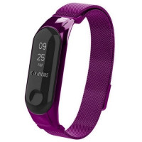 Ремешок для Xiaomi Band 3 Milanese Loop-магнит (фиолетовый)