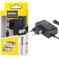 Зарядное устр. (зарядка) SERTEC (2.0A) ST-034 micro USB (black)
