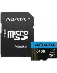 Карта памяти Adata micro SD 64gb (10cl) + adapter