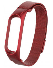 Ремешок для Xiaomi Band 4 Metal Magnit (Red)