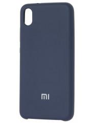 Чехол Silicone Case Xiaomi Redmi 7a (темно-синий)