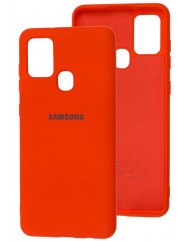 Чохол Silicone Case Samsung Galaxy A21s (червоний)