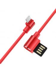 Кабель Hoco U37 Long Roam Lightning (червоний) 1.2m
