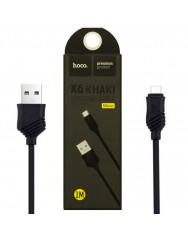 Кабель Hoco X6 Khaki Micro USB (черный) 1m