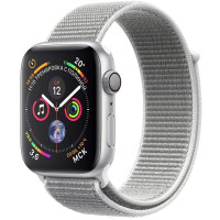 Apple Watch Series 4 44mm Silver Aluminum Case with Seashell Sport Loop (MU6C2)