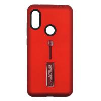 Чехол Xiaomi Redmi 7 с подставкой и держателем на палец (красный)