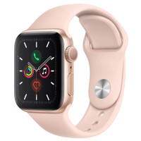 Apple Watch Series 5 40mm Gold Aluminum Case with Pink Sand Sport Band (MWV72)