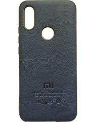 Чохол MI шкіра Xiaomi Redmi 7 (синій)
