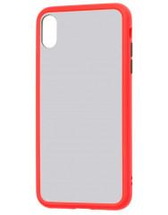 Чохол LikGus Maxshield матовий iPhone XS Max (червоний)