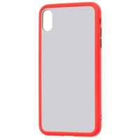 Чехол LikGus Maxshield матовый iPhone XS Max (красный)
