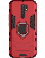 Чохол Armor + підставка Xiaomi Redmi 9 (червоний)