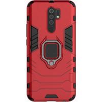 Чехол Armor + подставка Xiaomi Redmi 9 (красный)