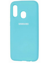 Чехол Silicone Case Samsung A40 (голубой)