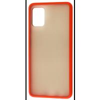 Чехол LikGus Maxshield матовый Samsung Galaxy A51 (красный)