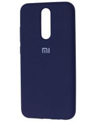 Чехол Silicone Case Xiaomi Redmi 8 (темно-синий)