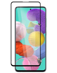 Стекло бронированноеSamsung Galaxy A71 (5D Black)