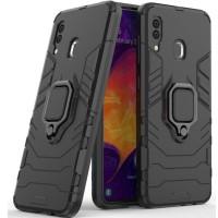 Чехол Armor + подставка Samsung Galaxy A20/A30 (черный)