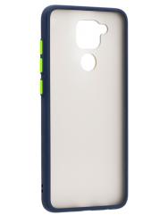 Чохол LikGus Maxshield матовий Xiaomi Redmi Note 9 (темно-синій)