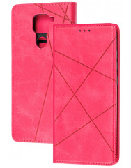 Книга Business Leather Xiaomi Redmi Note 9 (малиновий)