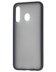 Чехол LikGus Maxshield матовый Samsung Galaxy A20/A30 (черный)