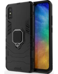 Чехол Armor + подставка Xiaomi Redmi 9a (черный)