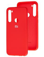 Чохол Silicone Case Xiaomi Redmi Note 8 (темно-червоний)