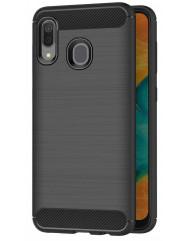 Чехол Carbon Samsung Galaxy A20 / A30 (черный)
