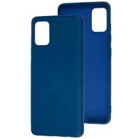 Чехол Soft Touch Samsung Galaxy A51 (синий)