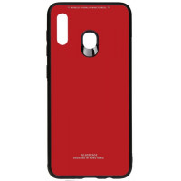 Чехол Glass Case Samsung Galaxy A20 / A30 (красный)