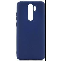 Чехол Soft Touch Xiaomi Redmi Note 8 Pro (синий)