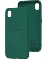 Чехол Silicone Case Samsung A01 Core (темно-зеленый)