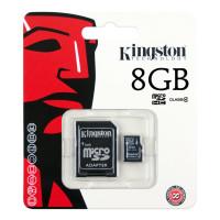 Карта памяти Kingston micro SD 8gb (4cl) + adapter