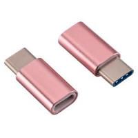 Адаптер Micro на Type-C (розовый)
