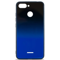 Чехол Glass Case Gradient Xiaomi Redmi 6 (Blue Abyss)