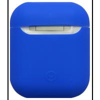 Чехол для Airpods силиконовый (синий)