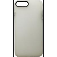Чехол силиконовый матовый iPhone 7/8 Plus (бело-черный)