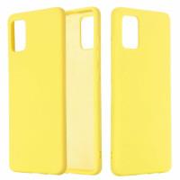 Чехол Silicone Case Samsung Galaxy A51 (желтый)