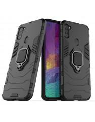 Чехол Armor + подставка Samsung Galaxy A11 (черный)