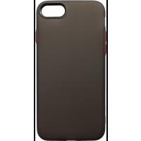 Чехол силиконовый матовый iPhone 7/8 (черно-красный)