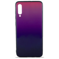 Чехол Glass Case Gradient Samsung Galaxy A70 (Purple Barca)